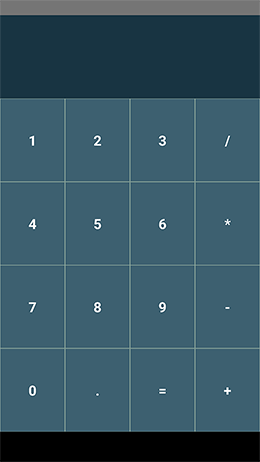 Calculator laid out properly